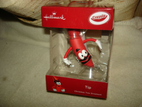 NEW IN BOX 2018 HALLMARK CRAYOLA TIP THE RED CRAYON CHRISTMAS ORNAMENT