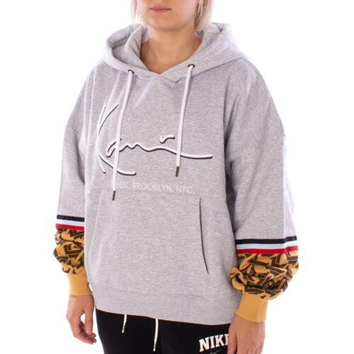 Karl Kani Signature Hoodie Damen Sweater grau camel 35870