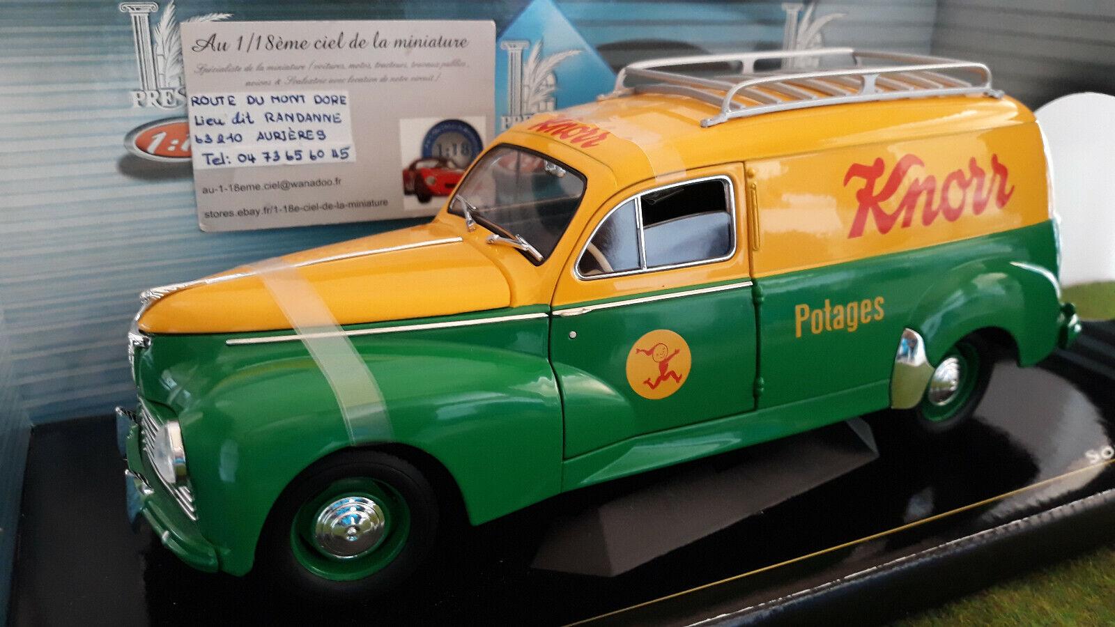 PEUGEOT 203 BREAK TOLE KNORR Potages 1 18 SOLIDO 8426 voiture miniature collecti
