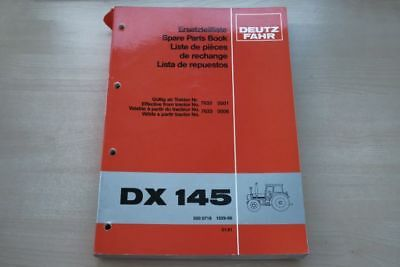 193087) Deutz Fahr Dx 145 Ersatzteilkatalog 01/1981 Bequem Zu Kochen