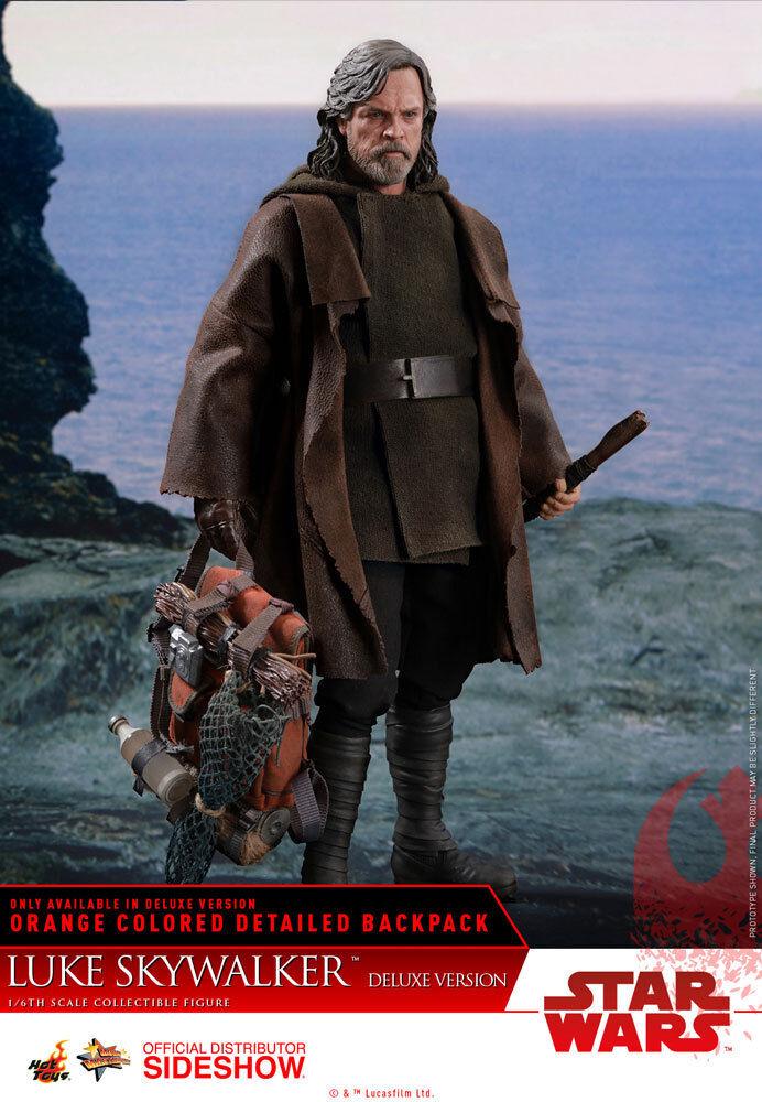 HOT TOYS Luke Skywalker Deluxe Star Wars The Last Jedi 1 6 Scale Figure MINT NEW