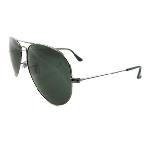 e31904c61a893 Image is loading Ray-Ban-Sunglasses-Aviator-3025-W0879-Gunmetal-Green-