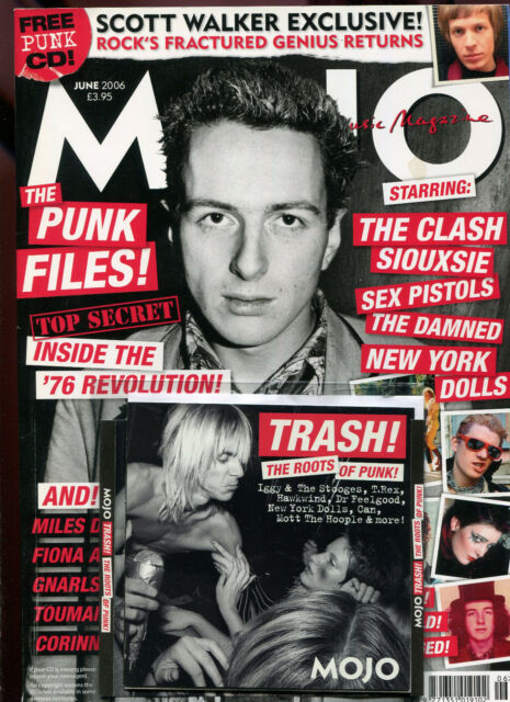 MOJO + free CD ... No. 151  June 2006  :  Punk  Scott Walker  The Clash