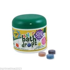 Crayola Play Visions Color Bath Dropz 45 Tablets Nontoxic Bathtime Fun Bath Toy