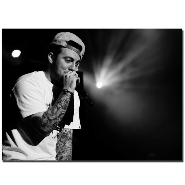 Mac Miller Music Hip Rapper Art Poster Canvas Decor HD Printed #PM1038 | eBay