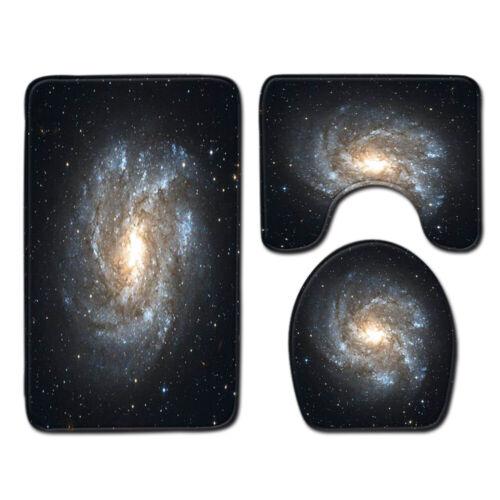 Night Sky Milky Way Trees Non-Slip Bath Mat Soft Bathroom Rugs Absorbent Carpet