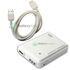 Portable Battery Backup Charger+USB 3.0 Micro Cable for Samsung Galaxy S5 Note 3