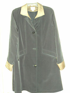 Women-039-s-East-5th-Size-PM-Black-3-4-Length-Coat-with-Zip-Out-Lining