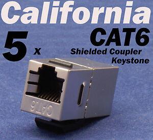 10 pcs Lot CAT5 Inline RJ45 Keystone Wall Coupler Jack Adapter 8P8C White CAT5e