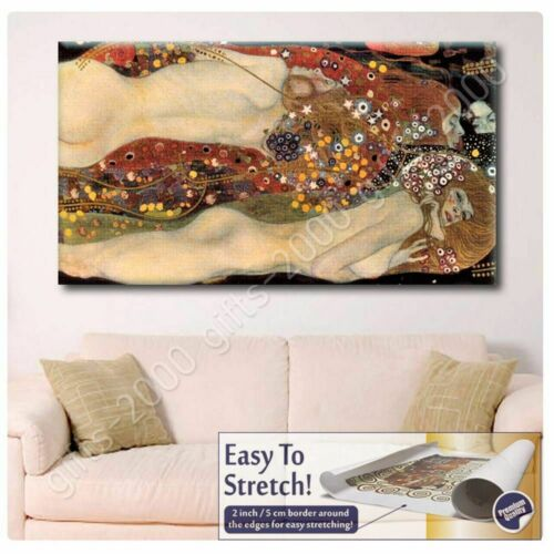 Wall art picture Rolled Water Serpents Snakes by Gustav KlimtCanvas