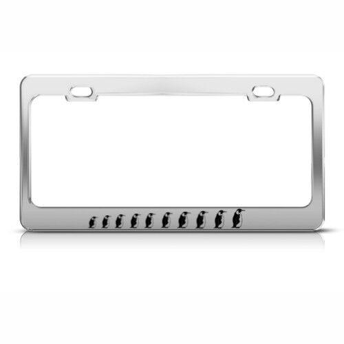 PENGUIN PENGUINS Metal License Plate Frame Tag Holder Tag Holder