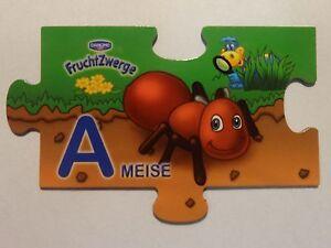 Danone-Fruchtzwerge-Magnet-2010-A-Ameise-Tiermagnete-Tier-Tiere-Puzzle