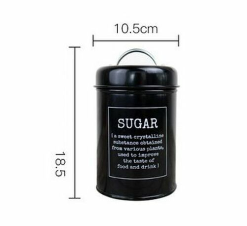 Bottle Case Tank Cover Metal Seal Steel Kitchen Home Coffee Sugar Tea Container