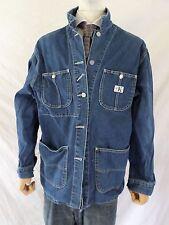 cK JEANS CALVIN KLEIN vintage 90s denim logo chore coat jacket LARGE