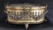 Vintage Brass Art Neauveau French Jardiniere Plant Pot