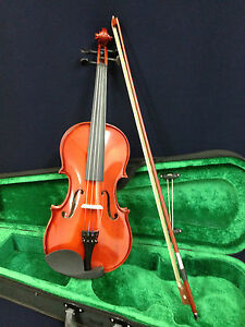 Brand-New-Caraya-1-4-Size-Violin-w-Spare-String-Set-Foam-Hard-Case-Bow-Resin