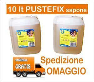 2-bidoni-Pustefix-Liquido-per-Bolle-da-5000-ml-cada-uno-Bolle-di-Sapone-10lt