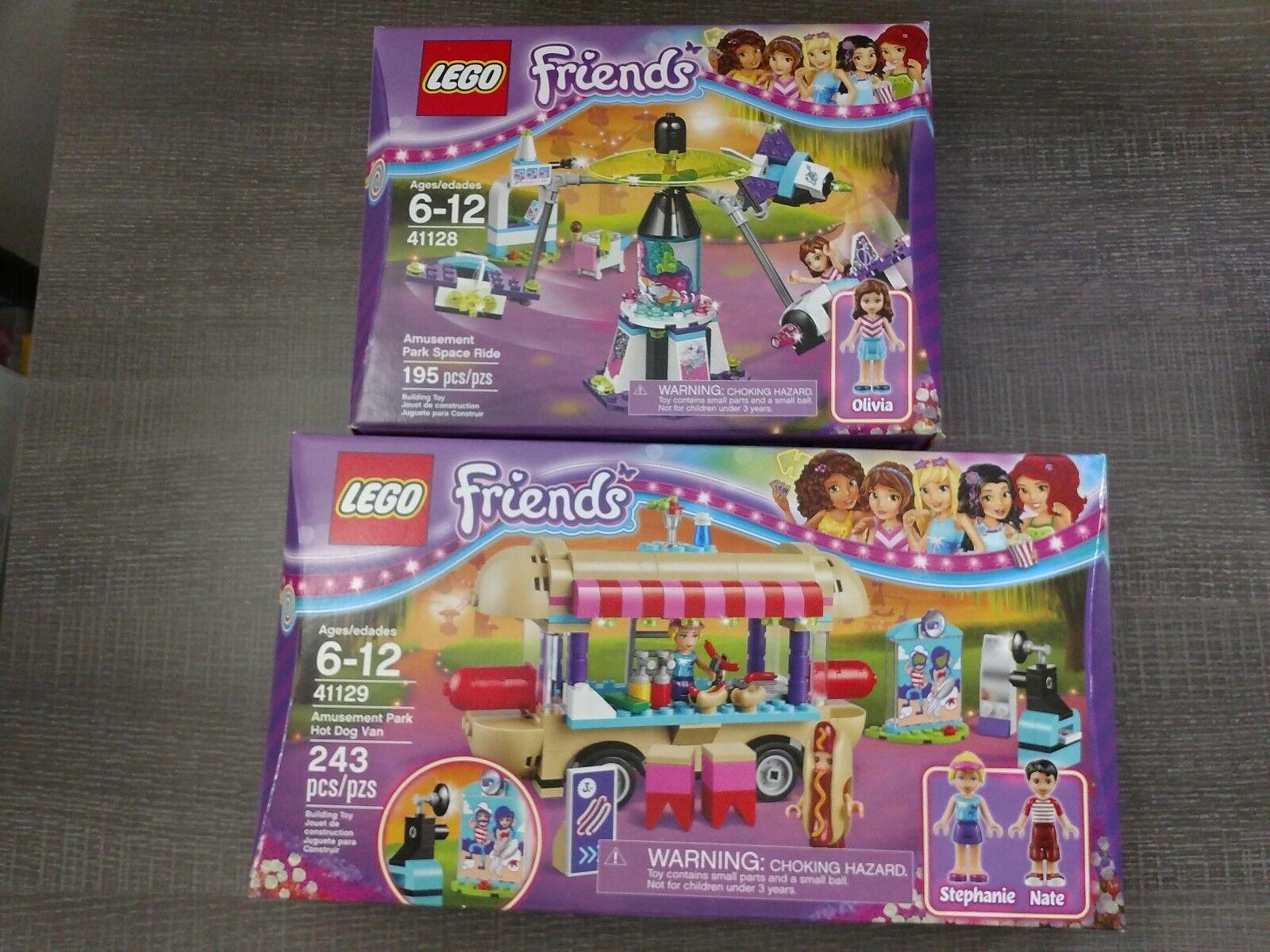 New Lego Friends Pair 41129 Hot Dog Van & 41128 Amusement Park Ride NIB NISB