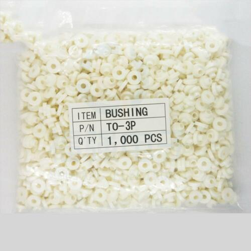 100PCS TO-3P TO-247 blanc 3 mm M3 plastique Rondelle Isolant Silicone Bague NOUVEAU