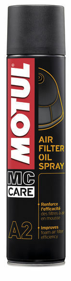 MOTUL A2 HUILE POUR FILTRES AIR SPRAY FILTRE À AIR OIL spray 400 ml