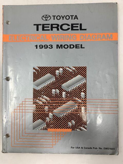 1993 Toyota Tercel Electrical Wiring Diagram Repair Manual