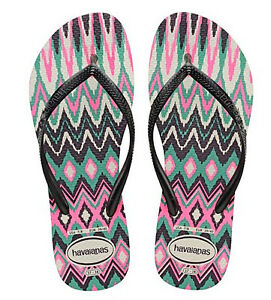 223e15a3772b13 Havaianas Women`s Flip Flops Slim Tribal Sandals White with Black ...