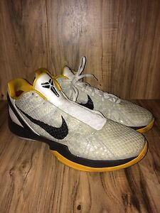 newest 7e471 010a4 Image is loading RARE-Nike-Zoom-Kobe-6-VI-White-Black-