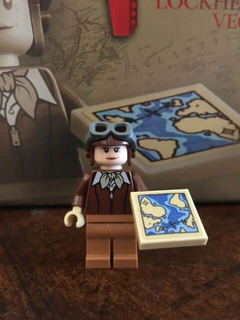 LEGO Amelia Earhart Tribute 40450 Mini Figure Only NEW with Map 🗺 & Helmet HTF
