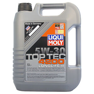 liqui moly top tec 4200 5w 30 motor l 5 liter longlife 3 vw audi c ebay. Black Bedroom Furniture Sets. Home Design Ideas