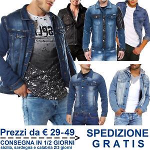 Giacca-Jeans-da-Uomo-Fashion-Giubbino-in-Cotone-Denim-per-Moda-Slim-Fit-Casual