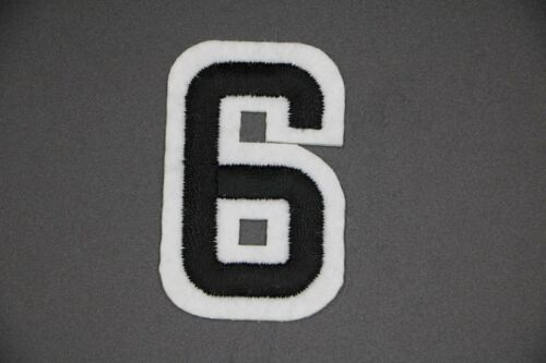 BLACK NUMBER PATCHES EMBROIDERED NUMBERS BLOCK NUMBER PATCH EMBROIDERED NUMBER
