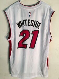 Image is loading Adidas-NBA-Jersey-Miami-Heat-Hassan-Whiteside-White- e130b0eaf