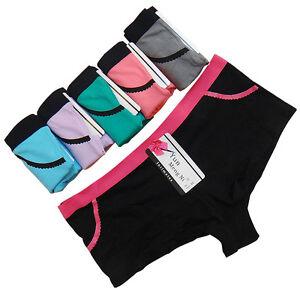 fb93e1c8c8be 1 Pc Women's Underwear Cotton Solid Sport Boyshorts Boxers Shorts ...
