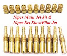 10pcs Carburetor Main Jet kit & 10pcs Set Slow/Pilot Jet for PWK Keihin OKO CVK