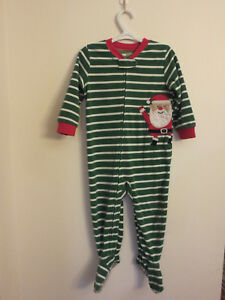 57f9f27dbd4c Carters 2T One Piece Footed Pajamas Fleece Toddler PJs - Christmas ...