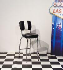 Barstuhl Paul 2er Set American Diner 50er Jahre Las Vegas Retro Schwarz Weiß