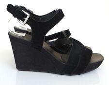 Clarks Softwear Black Suede Wedges / Sandals 5 / 38 b6