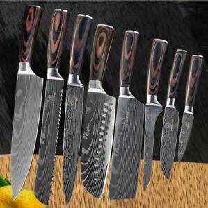 Couteau-a-motif-damas-Couteaux-de-cuisine-damasse-Chef-SET-Manche-en-bois
