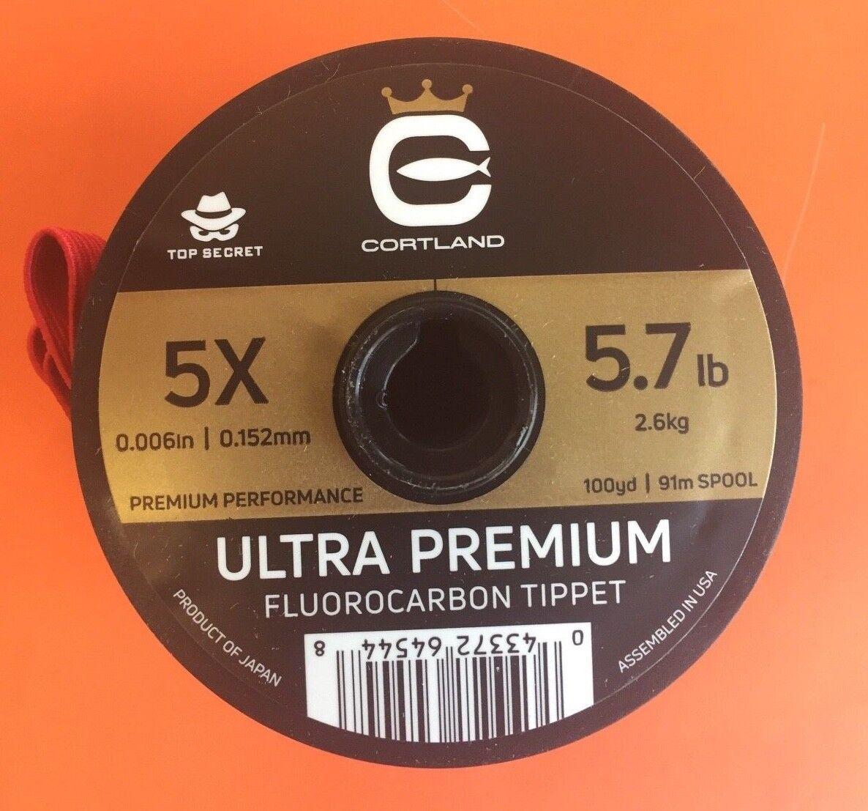 Cortland Ultra Premium Flugoldcarbon Tippet 5X 100 Yards