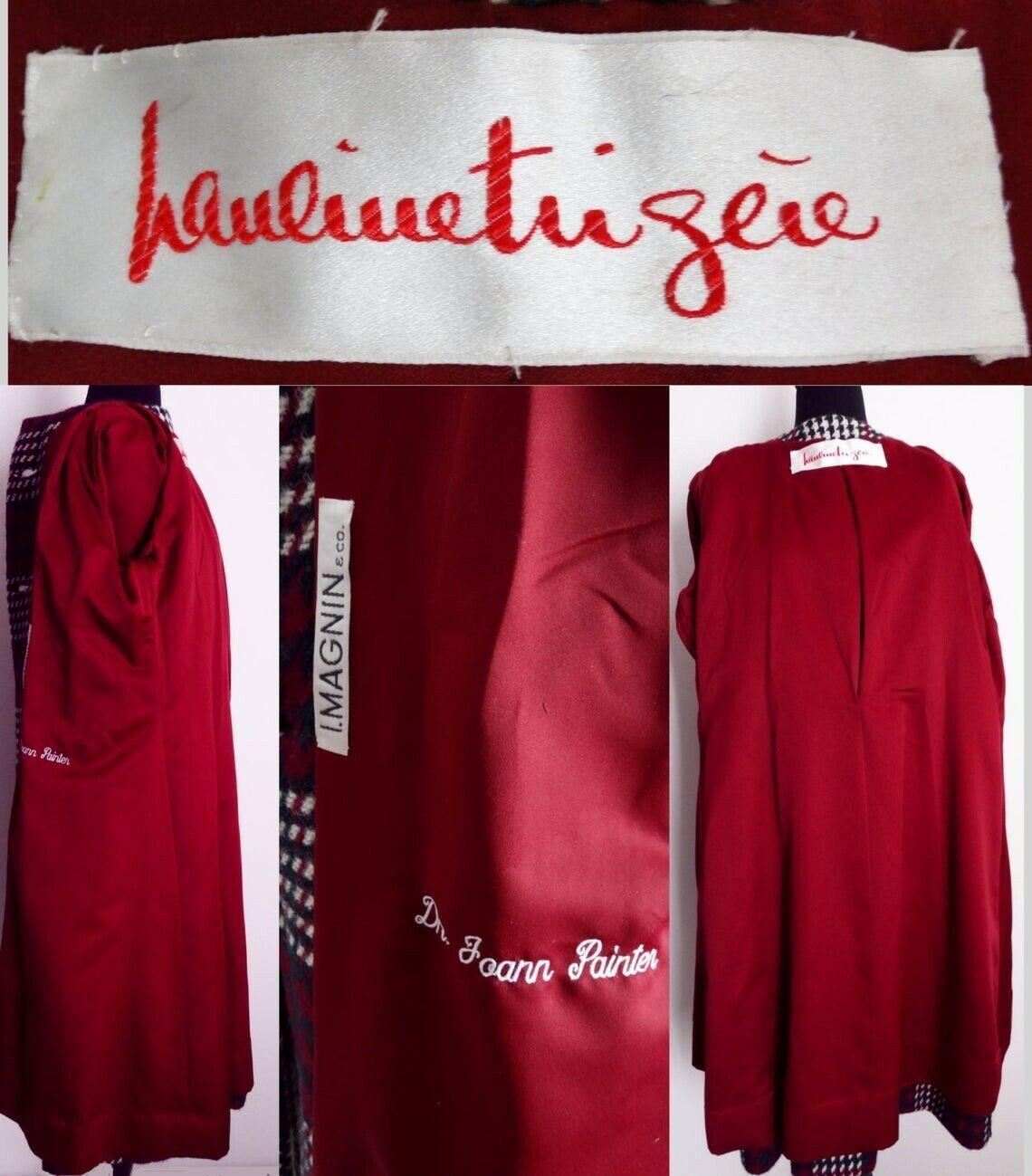 Vintage Pauline Trigere Coat   Designer Coat   Wi… - image 5