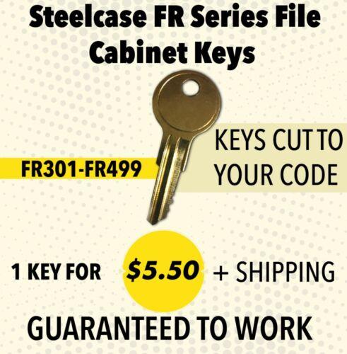 Steelcase  File Cabinet Key FR400 Keys Made by Locksmith
