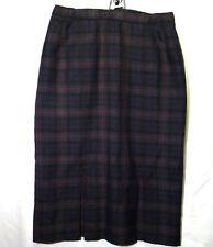 "womens skirt wool tartan lined blue green red 16 UK 36"" Slimma"