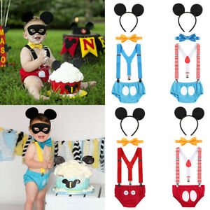 Mickey-Mouse-Baby-Boy-Birthday-Cake-Smash-Photo-Shoot-Costume-Romper-Outfit-Set