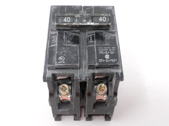 Q240 Siemens Circuit Breaker 2 Pole 40 Amp 120//240V New