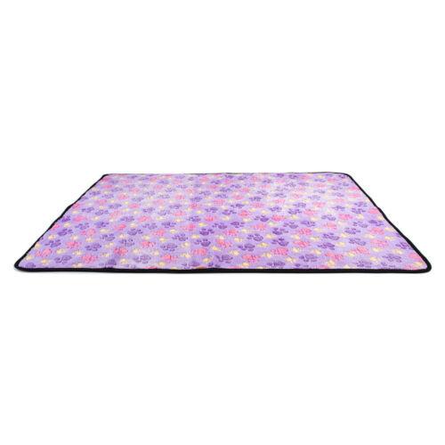 Soft Fleece Warm Pet Blanket Small Paw Print Cat Dog Puppy Bed Mat Sofa Cushion