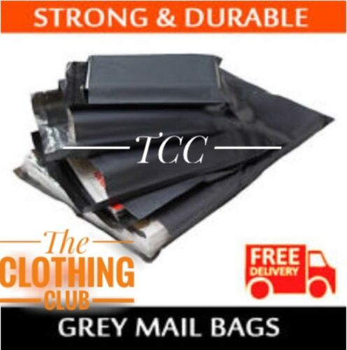 "2000  BAGS 10""x 14"" STRONG POLY MAILING POSTAGE POSTAL QUALITY SELFSEAL GREY"