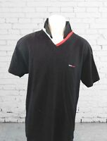 Vintage Tommy Hilfiger Mens Size Large 90s Flag Black Polo Supreme Shirt