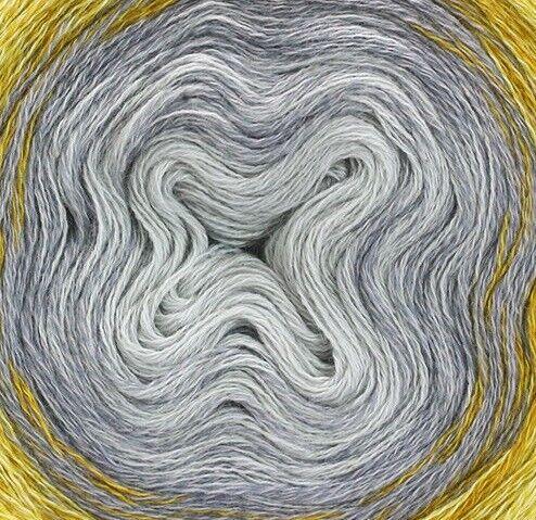 415 amarillo//curry 200 G lana Grossa-Shades of merino Cotton-FB Lana creativo