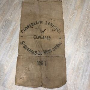 French-Hessian-Sack-Vintage-1960s-1961-Cereal-Cooperative-Agricola-Display-Cafe