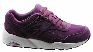 Puma Trinomic R698 Allover Suede Men Trainers Running Purple ...